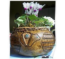 Pine needle and gourd basket Poster
