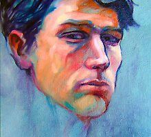 Portrait of Ben, oil painting on stretched canvas by Roz McQuillan