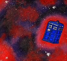 TARDIS in Flight by LaainStudios