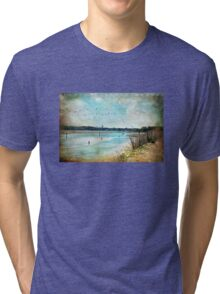 Turquoise Serenity Tri-blend T-Shirt