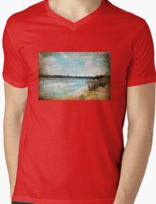 Turquoise Serenity Mens V-Neck T-Shirt