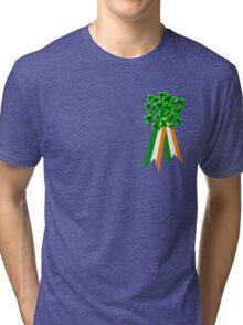 T-Shirt: Ribbon and Shamrock for Saint Patrick's Day Tri-blend T-Shirt