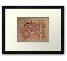 The Paradox of a Riddle  Framed Print