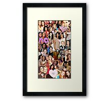 Rizzles collage Framed Print