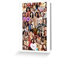 Rizzles collage Greeting Card
