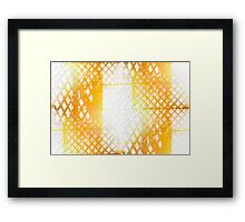 Collection Yellow Light and Shadow on Building Framed Print