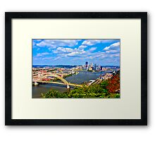 Pittsburgh Pennsylvania HDR Framed Print