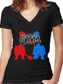 Goz and Mez Gym Women's Fitted V-Neck T-Shirt