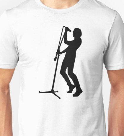 Singer microphone stage Unisex T-Shirt