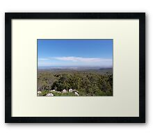 From Mt. Lofty to the Sea. Adelaide Hills. S. Aust.  Framed Print