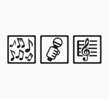 Singer microphone notes by Designzz