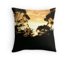 Sunset at Fountain caravan park Throw Pillow