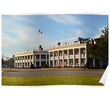 Stately Living Quarters at Fort Monroe Poster