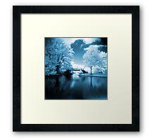 Blue Infrared Park Framed Print