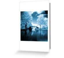 Blue Infrared Park Greeting Card