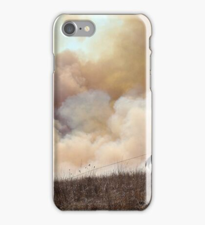 Kansas Rancher Starting a Controlled Burn iPhone Case/Skin