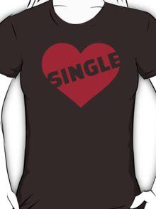 Red single heart T-Shirt