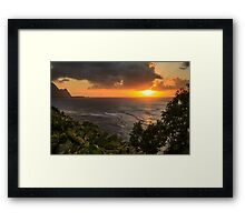 Bali Hai Sunset Framed Print