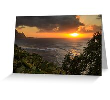 Bali Hai Sunset Greeting Card
