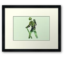 Green Hiker Framed Print