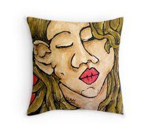 Stephanie's Kiss Throw Pillow