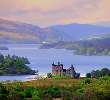 Kilchum Castle and Loch Awe, Argyllshire, Scottish Highlands by FritzFitton