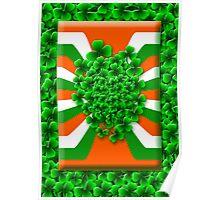 Bunch of Irish Shamrock for Saint Patrick's Day Poster