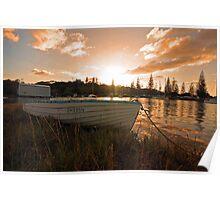 Sunrise boating Poster