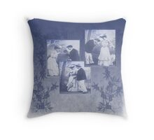 victorian love story Throw Pillow
