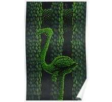 Flamingo Topiary Hedge (Laser Large Print) Poster