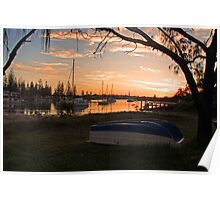 Sunset boating Poster