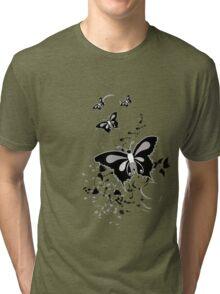 Black Butterfly Tri-blend T-Shirt