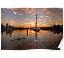 Sunset Reflections at Gorman's - Yamba...NSW Poster