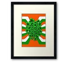 Friendly Irish Shamrock Framed Print