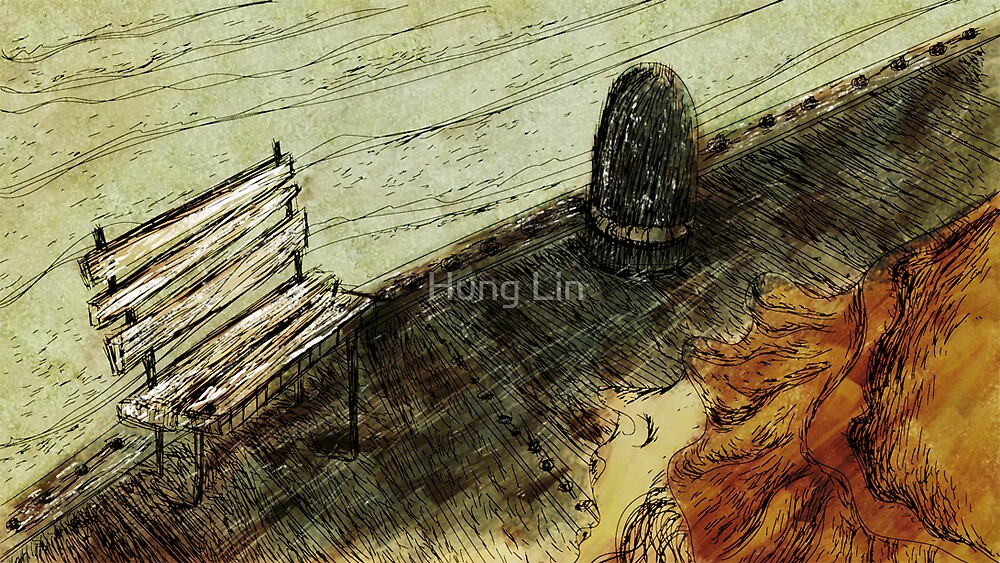 A woman in an orange hat  by Hung Lin
