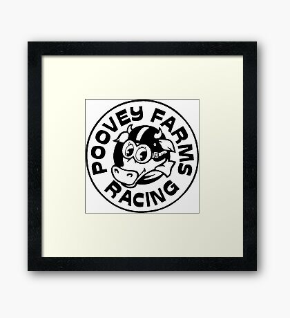 Poovey Farms Racing Framed Print