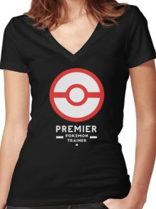 Premier Ball / Pokemon  Women's Fitted V-Neck T-Shirt