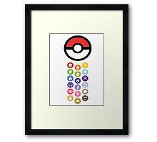 Pokemon Types  Framed Print