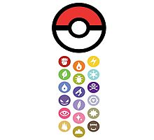 Pokemon Types  Photographic Print