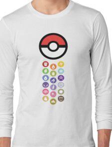 Pokemon Types  Long Sleeve T-Shirt