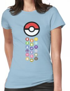 Pokemon Types  Womens Fitted T-Shirt