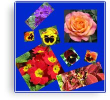 Crazy Summer Flowers Collage Canvas Print
