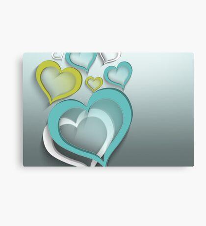 Modern Art Smart and Stylish Heart Design Canvas Print