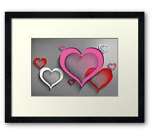 Modern Art Smart and Stylish Hearts Framed Print