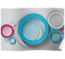 Modern Art Smart and Stylish Circles Poster