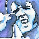 Blue Elvis by Roz Abellera Art Gallery