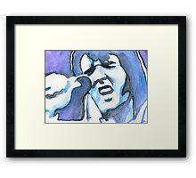 Blue Elvis Framed Print