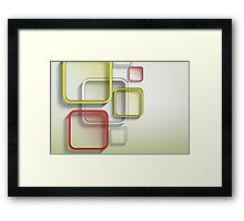 Modern Art Smart and Stylish Squares Framed Print