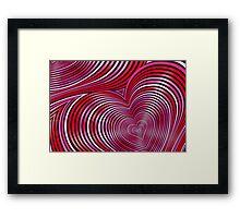 Modern Art Smart and Stylish Heart Shimmering Framed Print