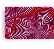 Modern Art Smart and Stylish Heart Shimmering Canvas Print